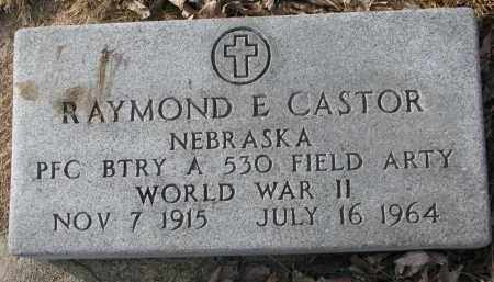 CASTOR, RAYMOND E. - Burt County, Nebraska | RAYMOND E. CASTOR - Nebraska Gravestone Photos
