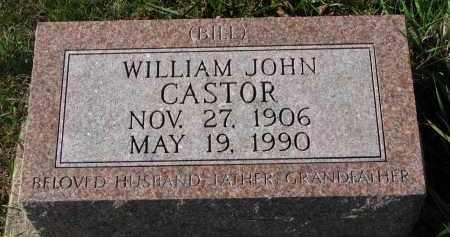 CASTOR, WILLIAM JOHN - Burt County, Nebraska | WILLIAM JOHN CASTOR - Nebraska Gravestone Photos