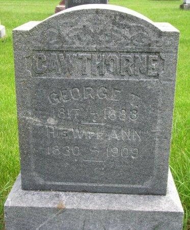 CAWTHORNE, GEORGE T. - Burt County, Nebraska   GEORGE T. CAWTHORNE - Nebraska Gravestone Photos