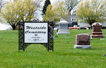 *WESTSIDE CEMETERY, SIGN FOR - Burt County, Nebraska | SIGN FOR *WESTSIDE CEMETERY - Nebraska Gravestone Photos
