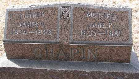 CHAPIN, JAMES H. - Burt County, Nebraska | JAMES H. CHAPIN - Nebraska Gravestone Photos
