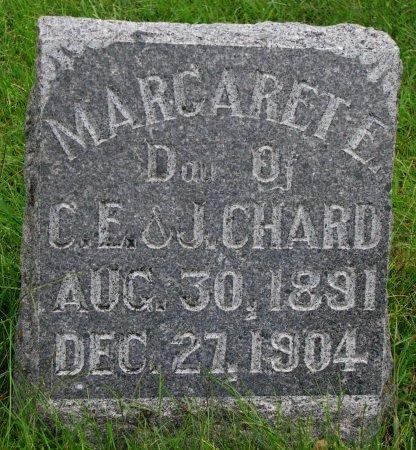 CHARD, MARGARET E. - Burt County, Nebraska | MARGARET E. CHARD - Nebraska Gravestone Photos