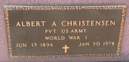 CHRISTENSEN, ALBERT A. (MILITARY) - Burt County, Nebraska | ALBERT A. (MILITARY) CHRISTENSEN - Nebraska Gravestone Photos