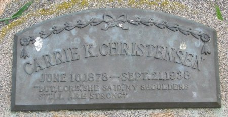 CHRISTENSEN, CARRIE KATHERINE - Burt County, Nebraska | CARRIE KATHERINE CHRISTENSEN - Nebraska Gravestone Photos