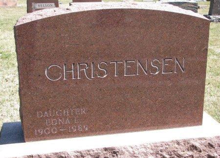 CHRISTENSEN, EDNA L. - Burt County, Nebraska | EDNA L. CHRISTENSEN - Nebraska Gravestone Photos