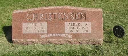 CHRISTENSEN, EFFIE D. - Burt County, Nebraska | EFFIE D. CHRISTENSEN - Nebraska Gravestone Photos