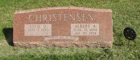 CHRISTENSEN, ALBERT A. - Burt County, Nebraska | ALBERT A. CHRISTENSEN - Nebraska Gravestone Photos