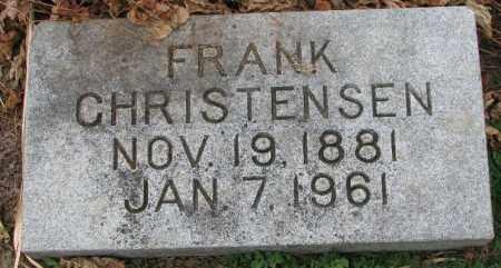 CHRISTENSEN, FRANK - Burt County, Nebraska | FRANK CHRISTENSEN - Nebraska Gravestone Photos