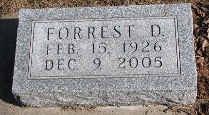 CHRISTENSEN, FORREST D. - Burt County, Nebraska | FORREST D. CHRISTENSEN - Nebraska Gravestone Photos