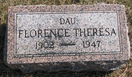 CHRISTENSEN, FLORENCE THERESA - Burt County, Nebraska | FLORENCE THERESA CHRISTENSEN - Nebraska Gravestone Photos