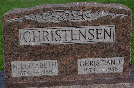 CHRISTENSEN, H. ELIZABETH - Burt County, Nebraska | H. ELIZABETH CHRISTENSEN - Nebraska Gravestone Photos