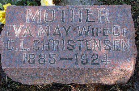CHRISTENSEN, IVA MAY - Burt County, Nebraska | IVA MAY CHRISTENSEN - Nebraska Gravestone Photos