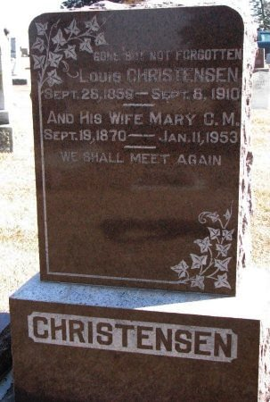 CHRISTENSEN, MARY C.M. - Burt County, Nebraska | MARY C.M. CHRISTENSEN - Nebraska Gravestone Photos