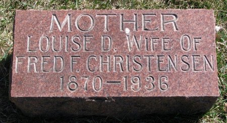 CHRISTENSEN, LOUISE D. - Burt County, Nebraska | LOUISE D. CHRISTENSEN - Nebraska Gravestone Photos
