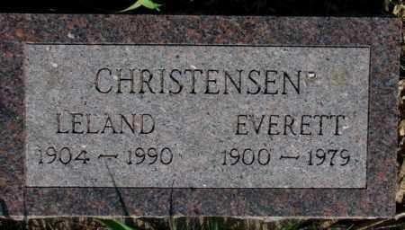CHRISTENSEN, LELAND - Burt County, Nebraska | LELAND CHRISTENSEN - Nebraska Gravestone Photos