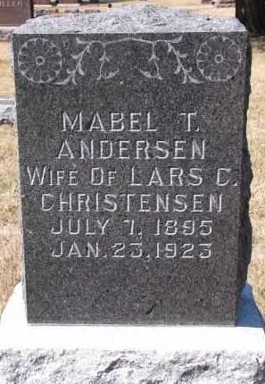 CHRISTENSEN, MABEL T. - Burt County, Nebraska | MABEL T. CHRISTENSEN - Nebraska Gravestone Photos