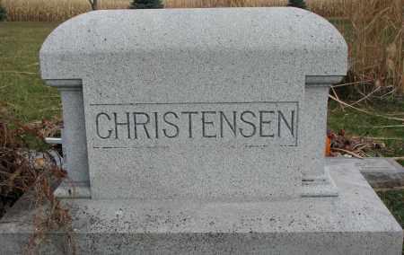 CHRISTENSEN, PLOT - Burt County, Nebraska | PLOT CHRISTENSEN - Nebraska Gravestone Photos