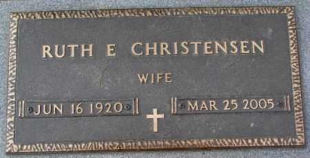CHRISTENSEN, RUTH E. - Burt County, Nebraska   RUTH E. CHRISTENSEN - Nebraska Gravestone Photos