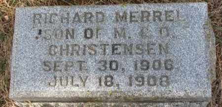 CHRISTENSEN, RICHARD MERREL - Burt County, Nebraska | RICHARD MERREL CHRISTENSEN - Nebraska Gravestone Photos