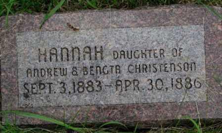 CHRISTENSON, HANNAH - Burt County, Nebraska | HANNAH CHRISTENSON - Nebraska Gravestone Photos
