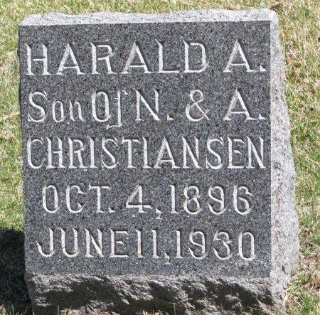 CHRISTIANSEN, HARALD A. - Burt County, Nebraska | HARALD A. CHRISTIANSEN - Nebraska Gravestone Photos