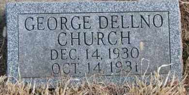 CHURCH, GEORGE DELLNO - Burt County, Nebraska | GEORGE DELLNO CHURCH - Nebraska Gravestone Photos