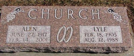 CHURCH, ALEN OTILIA  - Burt County, Nebraska | ALEN OTILIA  CHURCH - Nebraska Gravestone Photos