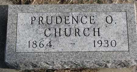 CHURCH, PRUDENCE O. - Burt County, Nebraska | PRUDENCE O. CHURCH - Nebraska Gravestone Photos
