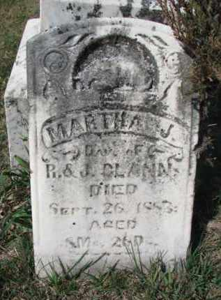 CLANN, MARTHA J. - Burt County, Nebraska | MARTHA J. CLANN - Nebraska Gravestone Photos