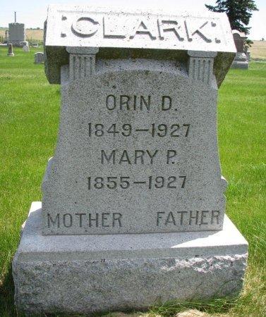 CLARK, MARY P. - Burt County, Nebraska | MARY P. CLARK - Nebraska Gravestone Photos