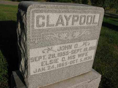 CLAYPOOL, JOHN O. - Burt County, Nebraska | JOHN O. CLAYPOOL - Nebraska Gravestone Photos