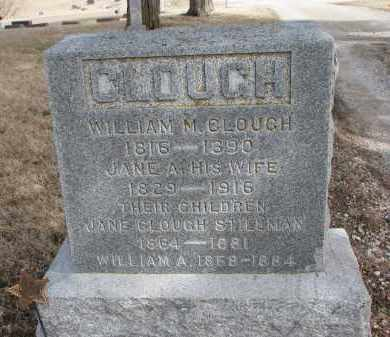 CLOUGH, JANE A. - Burt County, Nebraska | JANE A. CLOUGH - Nebraska Gravestone Photos
