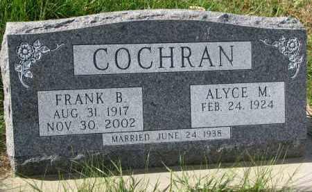 COCHRAN, ALYCE M. - Burt County, Nebraska | ALYCE M. COCHRAN - Nebraska Gravestone Photos