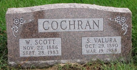 COCHRAN, SADIE VALURA - Burt County, Nebraska | SADIE VALURA COCHRAN - Nebraska Gravestone Photos