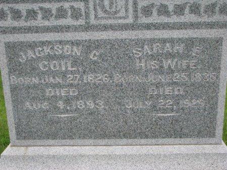 COIL, SARAH E. (CLOSE UP) - Burt County, Nebraska | SARAH E. (CLOSE UP) COIL - Nebraska Gravestone Photos