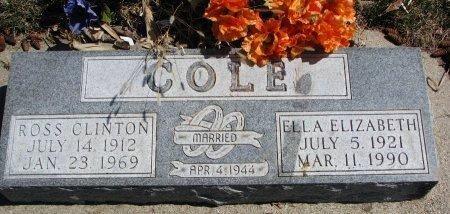 COLE, ELLA ELIZABETH - Burt County, Nebraska | ELLA ELIZABETH COLE - Nebraska Gravestone Photos