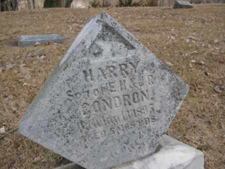 CONDRON, HARRY - Burt County, Nebraska | HARRY CONDRON - Nebraska Gravestone Photos