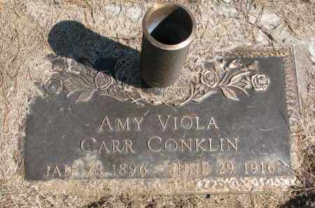 CARR CONKLIN, AMY VIOLA - Burt County, Nebraska | AMY VIOLA CARR CONKLIN - Nebraska Gravestone Photos