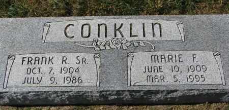 CONKLIN, FRANK R. SR. - Burt County, Nebraska   FRANK R. SR. CONKLIN - Nebraska Gravestone Photos