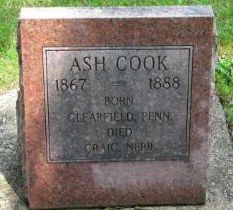 COOK, ASH - Burt County, Nebraska | ASH COOK - Nebraska Gravestone Photos