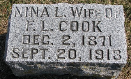 COOK, NINA LEONTINE - Burt County, Nebraska   NINA LEONTINE COOK - Nebraska Gravestone Photos