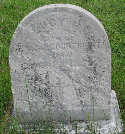 COURTRIGHT, LUCY H. - Burt County, Nebraska | LUCY H. COURTRIGHT - Nebraska Gravestone Photos