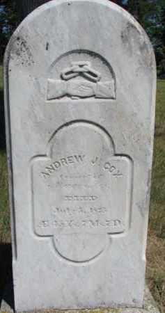 COX, ANDREW J. - Burt County, Nebraska | ANDREW J. COX - Nebraska Gravestone Photos