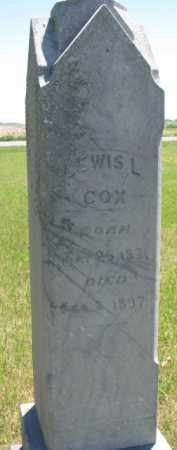 COX, LEWIS L. - Burt County, Nebraska   LEWIS L. COX - Nebraska Gravestone Photos