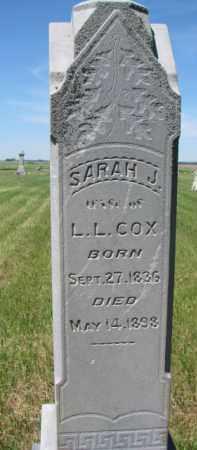 COX, SARAH J. - Burt County, Nebraska | SARAH J. COX - Nebraska Gravestone Photos