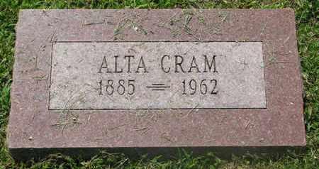 CRAM, ALTA - Burt County, Nebraska | ALTA CRAM - Nebraska Gravestone Photos