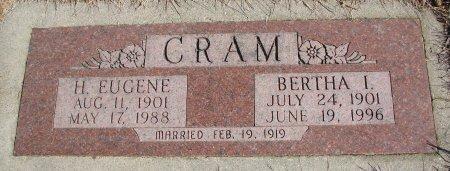 CRAM, BERTHA I. - Burt County, Nebraska | BERTHA I. CRAM - Nebraska Gravestone Photos