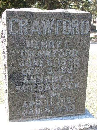 MCCORMACK CRAWFORD, ANNABELL - Burt County, Nebraska | ANNABELL MCCORMACK CRAWFORD - Nebraska Gravestone Photos