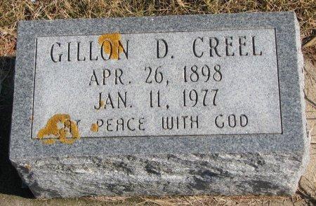 CREEL, GILLON D. - Burt County, Nebraska   GILLON D. CREEL - Nebraska Gravestone Photos