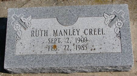 MANLEY CREEL, RUTH - Burt County, Nebraska | RUTH MANLEY CREEL - Nebraska Gravestone Photos